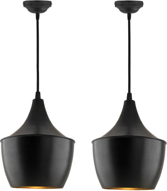 Homesake E26/E27 Single Head Metal Pear Shade Pendant Vintage Hanging Ceiling Light, Black Set of 4 Pendants Ceiling Lamp