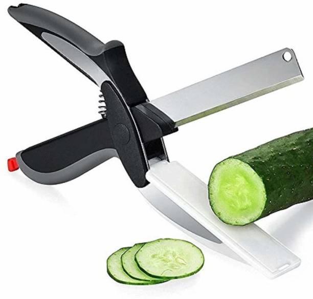 Funel Clever Cutter Kitchen Knife Food Chopper / Smart Cutter Scissor Knife Multi-Functional Kitchen Snap Cutter Food Scissors for Fruits, Vegetables (Clever Cutter) Vegetable & Fruit Chopper