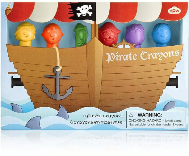 Npw Pirate Crayons (6 Pack)