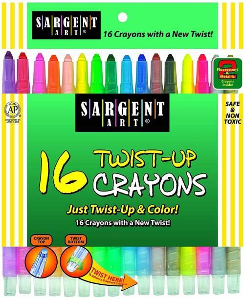 SARGENT ART INC. 55-0981 16-Count Twist-Up-Crayons