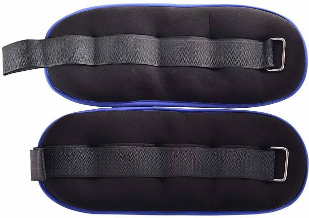 IRIS Fitness Ankle/Wrist Weights (1 Pair), Fully Adjustable Weight for Arm, Hand & Leg Black, Blue Ankle & Wrist Weight