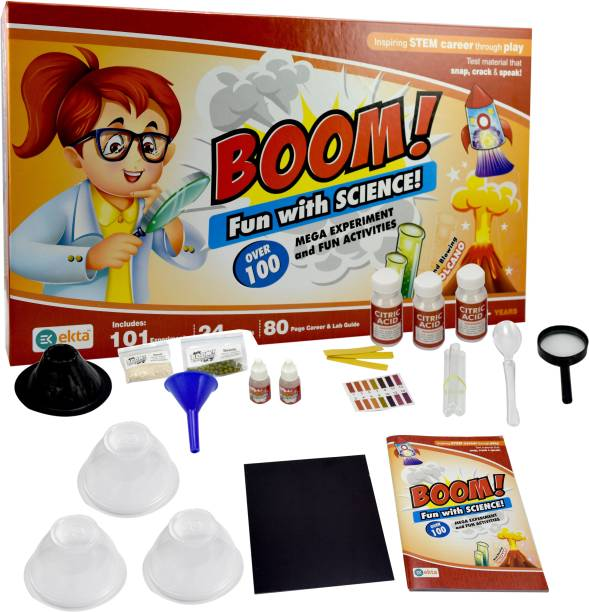 Ekta Fun with Science | Science lab Kit | 101 Experiments Inside | 24 lab Tool | 80 Page Career and lab Guide | 8 + Year Children