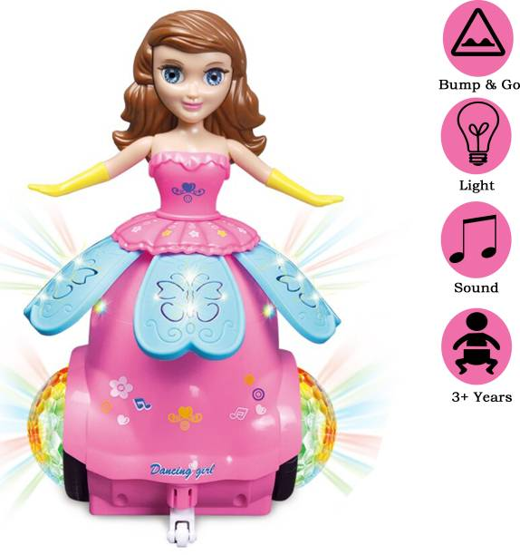 Wishkey Dancing Princess Doll Toy with Music and LED Lights for Girls