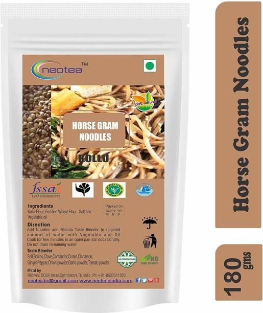 Neotea Millet Noodles (Horse Gram) 180 gm Each Pack of 2 ( Total 360 g ) Instant Noodles Vegetarian
