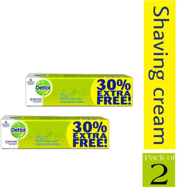 Dettol FRESH Lather Shaving Cream (2 Pc.)