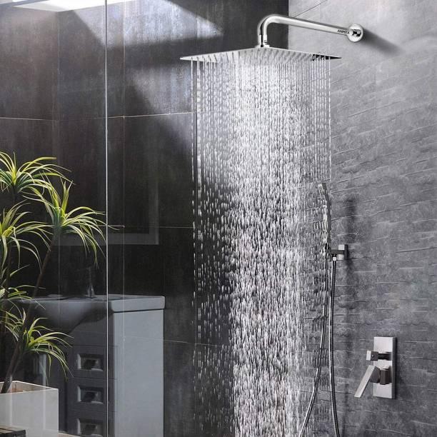 ANMEX 12x12 (12INCH) Super Heavy Ultra Slim Rain Shower Head with 24inch SS Round Shower Arm ਸ਼ਾਵਰ ਹੈਡ