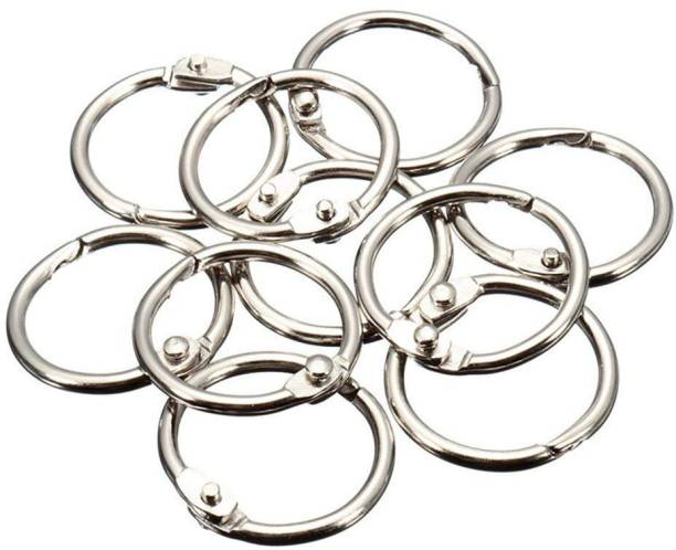 KNAFS Binder Ring,Key Chain Key Rings,Card Ring, Stainless Steel 10 Pieces - Diameter 4.5 cm Manual Ring Binder