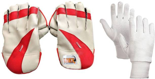 IBEX Champ Wicket Keeping Gloves Combo With Inner Gloves (Multicolor) Wicket Keeping Gloves