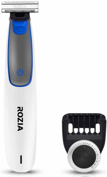 ROZIA Electric Beard Trimmer and Shaver for Men Rechargeable Razor Hybrid Replacement Adjustable Comb USB Charging Electric Beard Trimmer  Runtime: 35 min Trimmer for Men