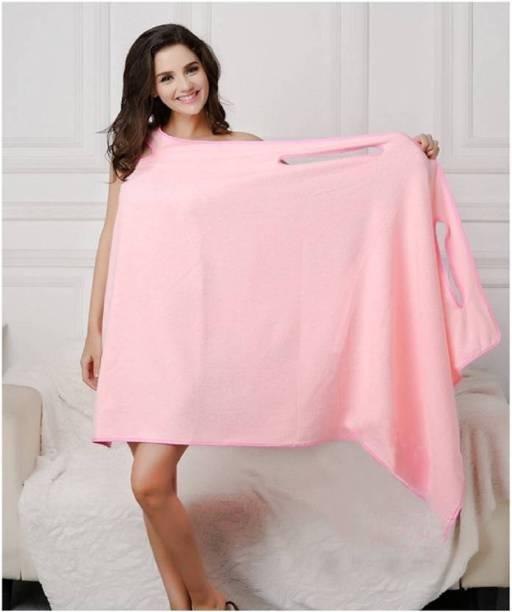 WANQLYN Pink Free Size Bath Robe