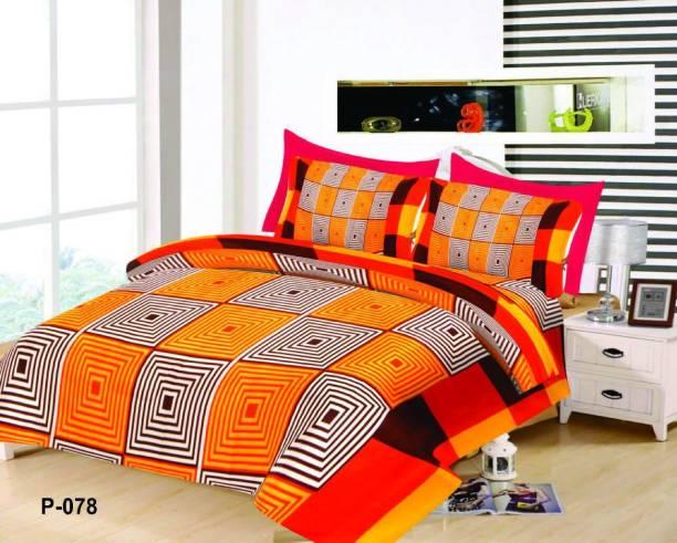 SUJATA 150 TC Polycotton Double 3D Printed Bedsheet