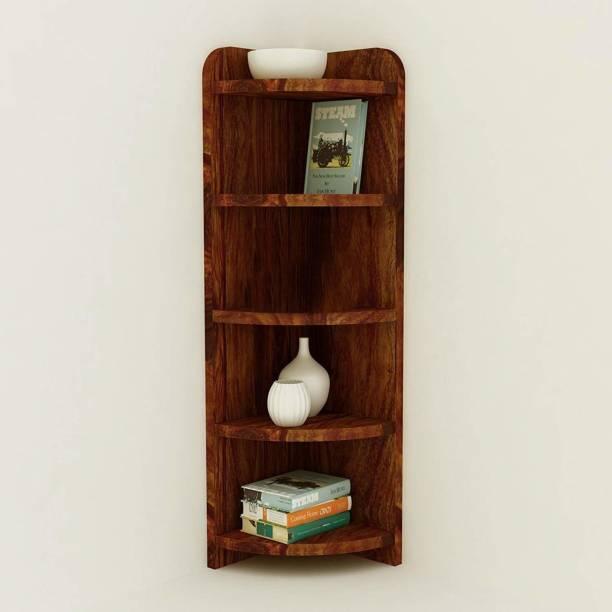 Suncrown Furniture Sheesham Wood Solid Wood Open Book Shelf