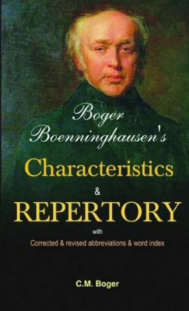 Boger Boenninghausen's Characteristics & Repertory