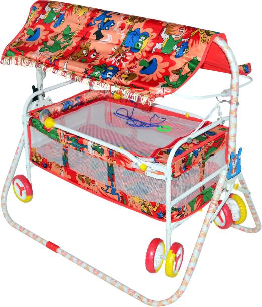 Childcraft Introducing New Cradle in Jungle Print with Cartoons Cot