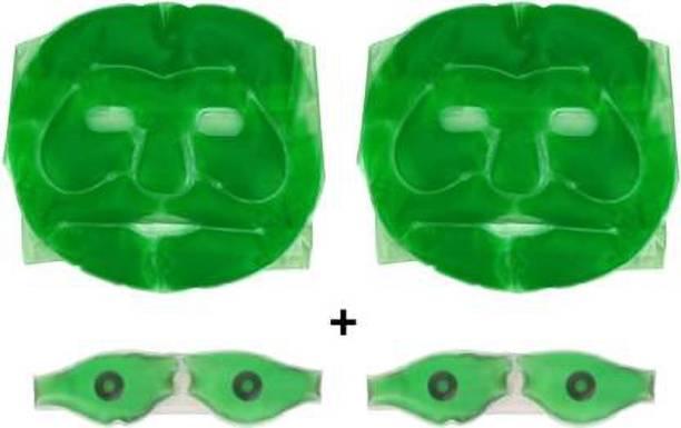 JUBLYN 2pcs Aloe vera gel face and eye masks  Face Shaping Mask
