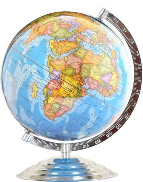 macmillan Political Educational Laminated ,12 inch Laminated Steel Finish GLOBE DESK & TABLE TOP POLITICAL Desk & Table Political World Globe