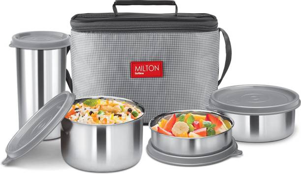 MILTON Premium DELICIOUS COMBO LUNCH BOX with One Year Warranty 4 Containers Lunch Box