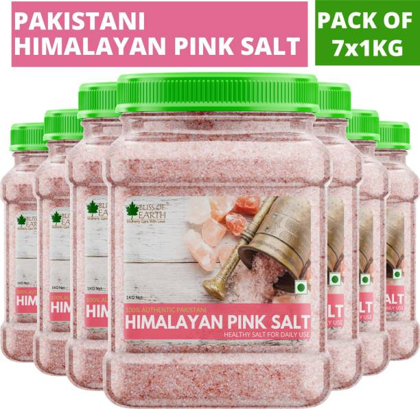 Bliss of Earth 7KG Authentic Pakistani Himalayan Pink Salt for Healthy Cooking & Weight Loss Himalayan Pink Salt