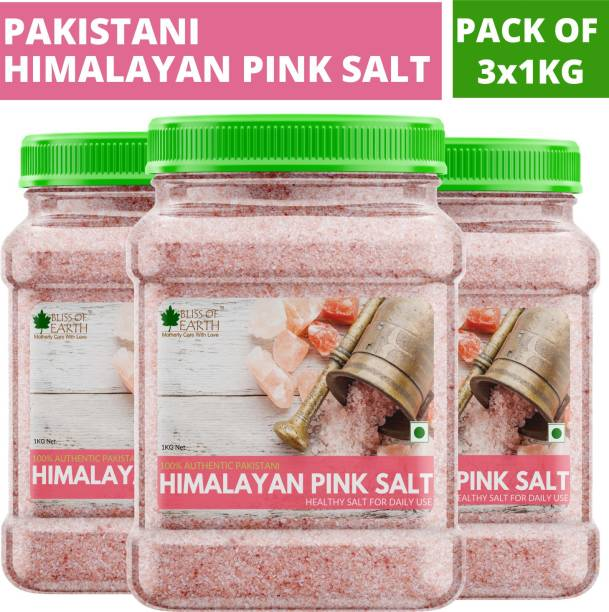Bliss of Earth 3KG Authentic Pakistani Himalayan Pink Salt for Healthy Cooking & Weight Loss Himalayan Pink Salt