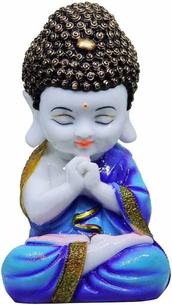 GW Creations Little Baby Monk Decorative Showpiece  -  20 cm