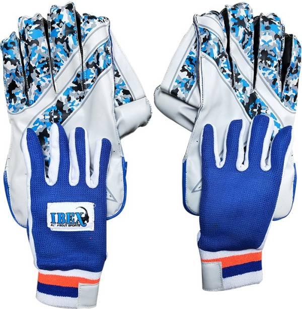 IBEX Youth Arrow Blue Wicket Keeping Gloves Combo (Age Group 8-15 Year) (Blue, Youth) Wicket Keeping Gloves