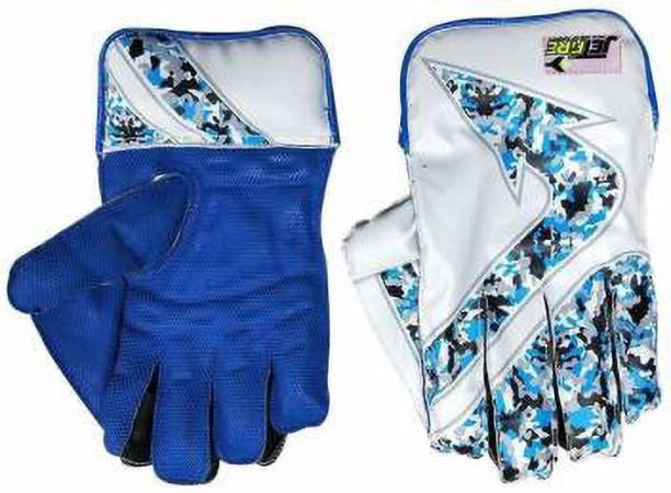 IBEX Youth Arrow Blue Wicket Keeping Gloves (Age Group 8-15 Year) (Blue, Youth) Wicket Keeping Gloves