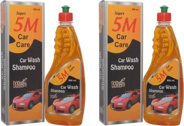 SUPER 5M Car Care Car Wash Shampoo pack of 2 (600)ml Car Washing Liquid