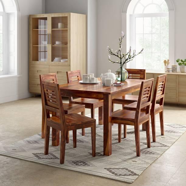 Flipkart Perfect Homes PureWood Sheesham 6 Seater Dining Set