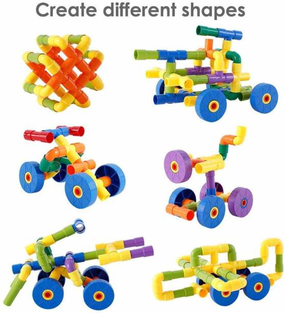 PRESENTSALE Pipe Puzzle Building Pipe Blocks for Kids Building Construction Blocks Assembly Game Puzzle For Kids