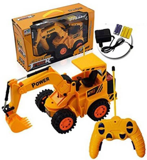 Toyazo Wireless Remote Control Rechargeable JCB Truck 5 Channel For Kids