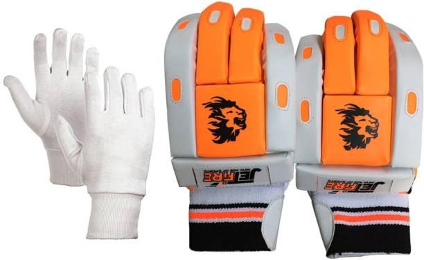 JetFire Match Batting Gloves Combo With Best Inner Gloves(Orange, Men) Batting Gloves