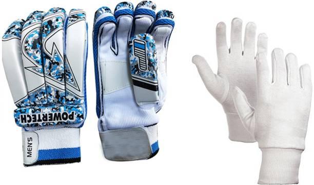JetFire Arrow Batting Gloves Combo With Best Inner Gloves (Blue, Men) Batting Gloves