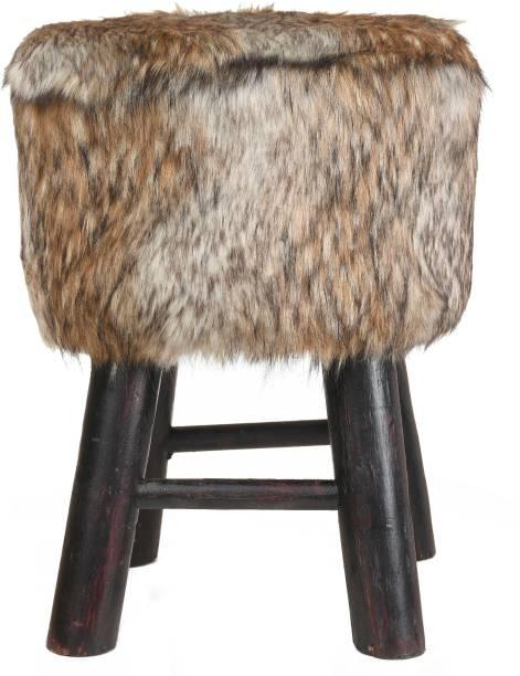 Creative Idea Mlticlr-Hair-Pouf-4Leg-3 Living & Bedroom Stool
