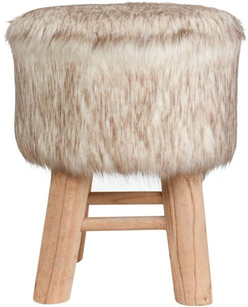 Creative Idea Mlticlr-Hair-Pouf-4Leg-4 Living & Bedroom Stool