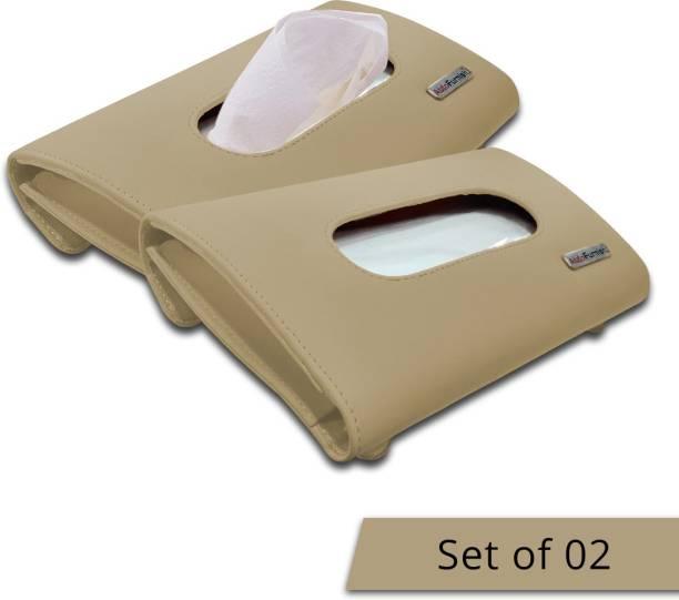 AutoFurnish Premium Car Tissue Holder Box with Tissues 12 Vehicle Tissue Dispenser