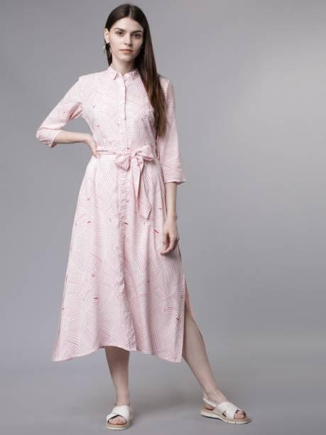 Tokyo Talkies Women Shirt Pink Dress