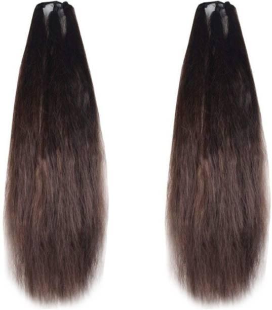 GadinFashion Set of 2, 24Inchs Brown Hair Parandi for Wedding Accessories Hair Accessory Set