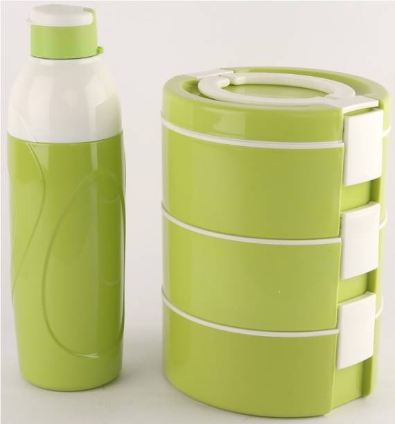 cello decker lunch combo green 3 Containers Lunch Box