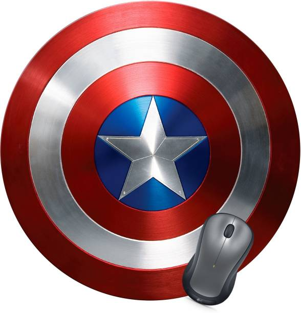Golden Feather Captain America Shield Designer Mousepad 01 Mousepad