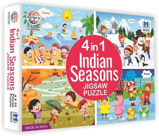 Ratnas Premium Quality Seasons jigsaw puzzle for kids. 4 jigsaw puzzles 35 pieces each