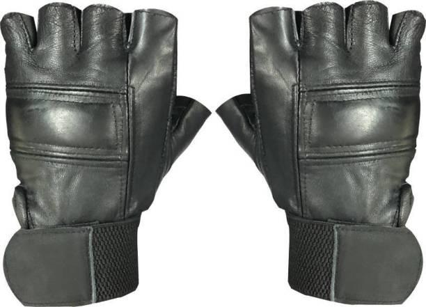 ENTIRE Fitness Champion Half Finger Leather Gym Sport Gloves Gym & Fitness Gloves