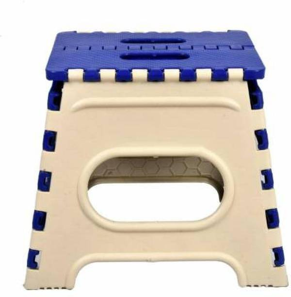 Max Max Folding Stool for Adults and Kids Bedroom & Kitchen Stool (Blue) Stool (Blue, Black) Stool