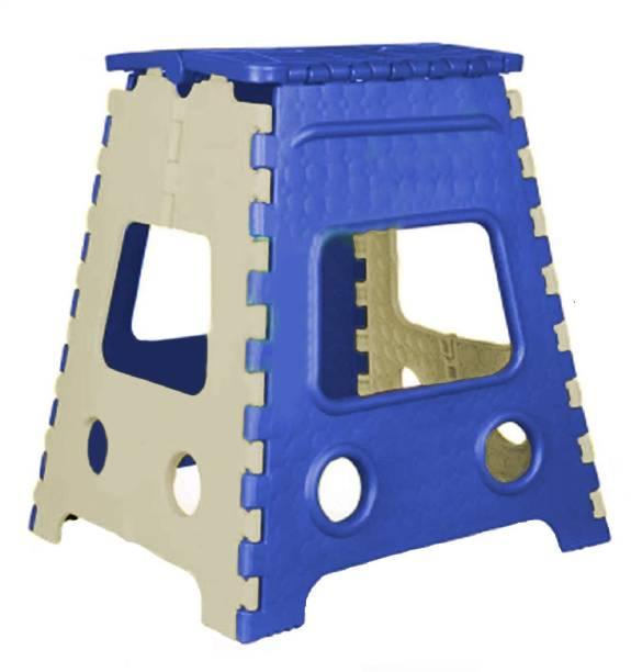LACOPINE 18 Inch Lightweight Plastic Folding Step Stool Kitchen Stool