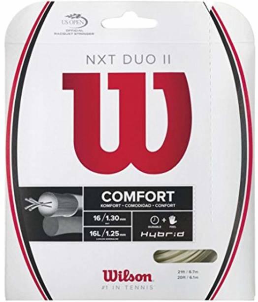 WILSON NXT Multifilament 17 Gauge Tennis Racket String 17 Tennis String - 40 ft