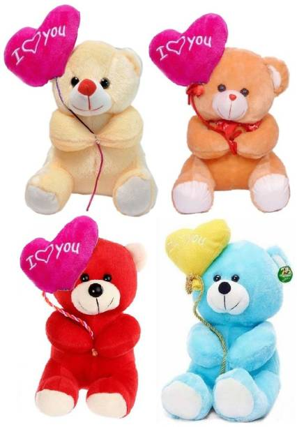 ToyKing Combo Offer Set of 4 Cute I Love You Balloon Teddy Bear  - 26 cm