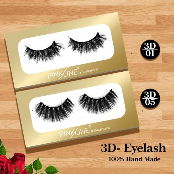 Pink line 3D Eyelashes (Pack of 2 ) 1,5
