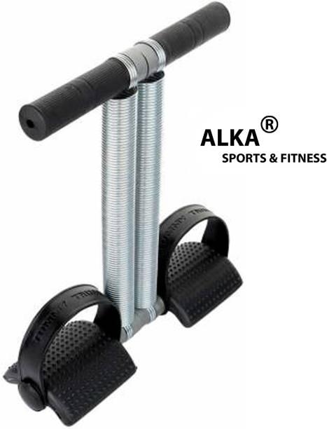 ALKA BLACK Double Steel Spring Tummy Trimmer for Men & Women gym Ab Exerciser