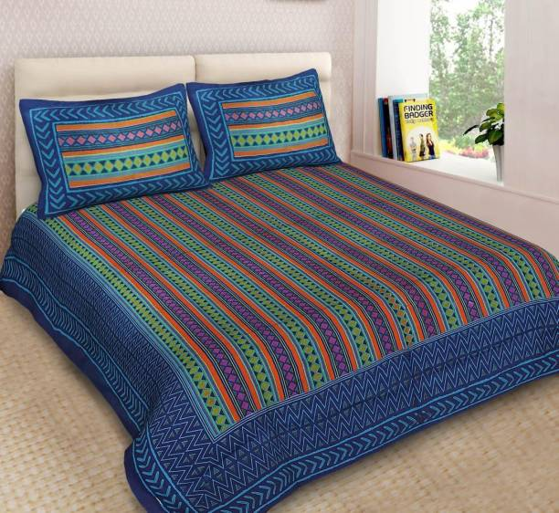 Stycloth 280 TC Cotton Double Printed Bedsheet