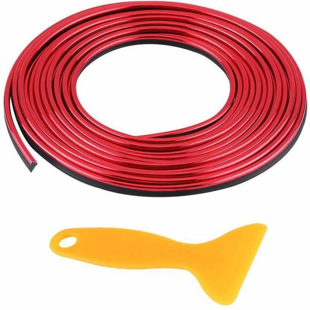 AutoRight Universal Red Car Gap Fillers Moulding Line Decorative Car Beading Roll For Window