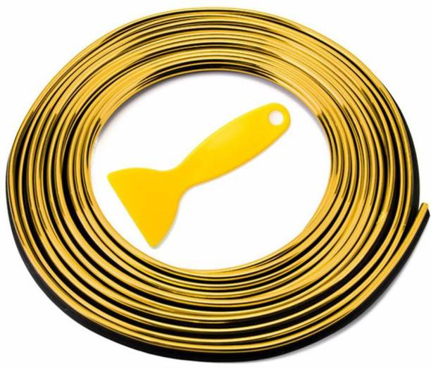 AutoRight Universal Golden Car Gap Fillers Moulding Line Decorative Car Beading Roll For Window